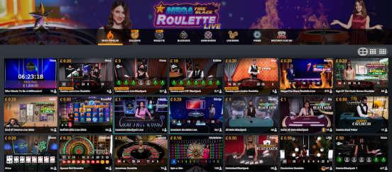 playtech live casino lobby
