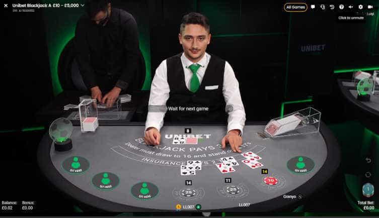 uniber dedicated pragmatic blackjack table