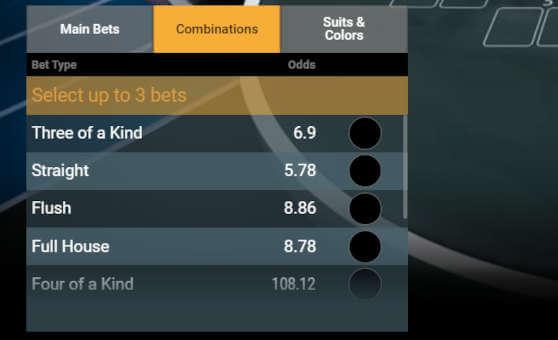 playtech bet on poker betting options