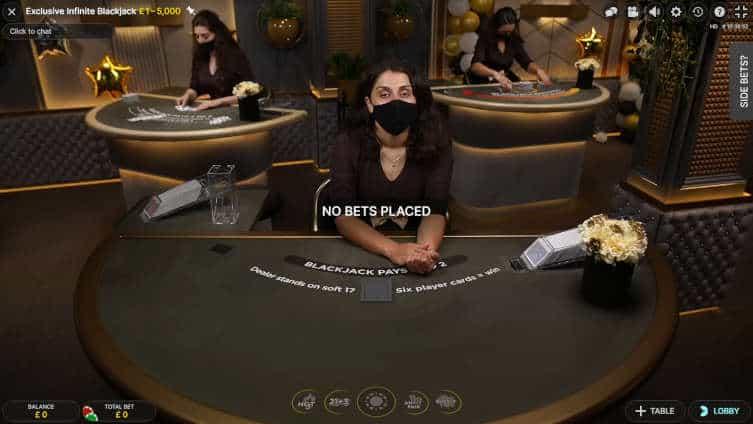 exclusive infinite blackjack