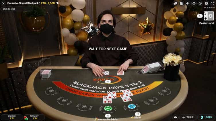 exclusive speed blackjack