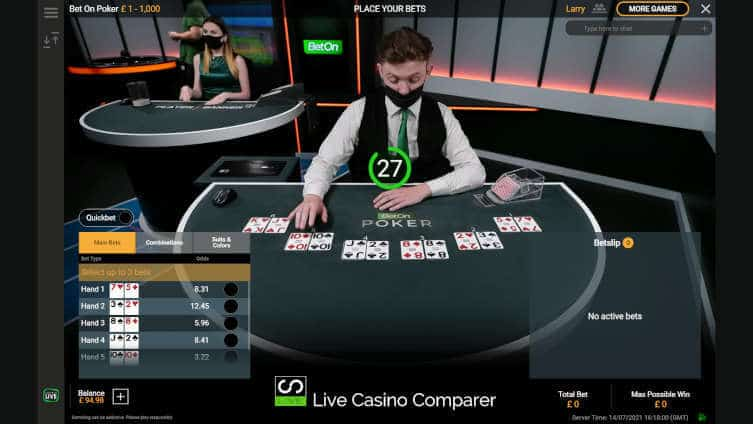playtech bet on poker first round of cards