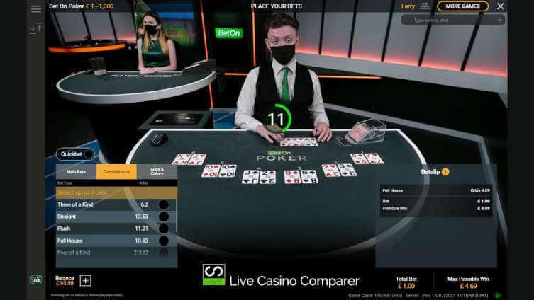 playtech bet on poker flop