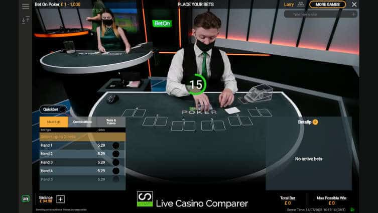 playtech bet on poker initial betting time