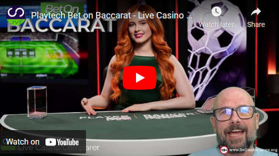 playtech bet on baccarat video review