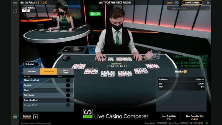 playtech bet on poker final hands
