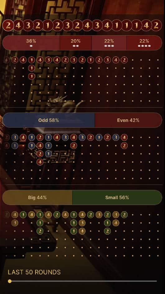 fan tan scoreboard