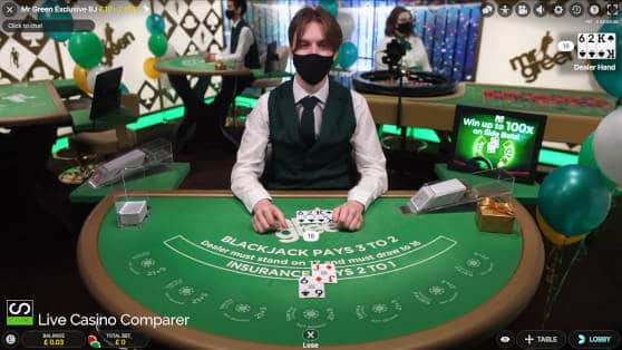 mr green dedicated blackjack table