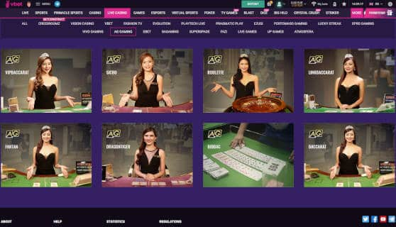 Vbet Asia Gaming Live Games