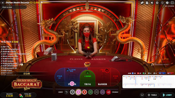 golden wealth baccarat betting time