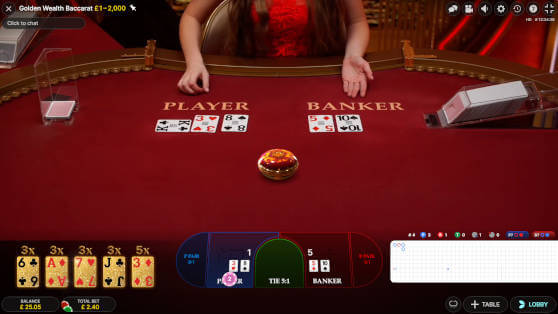 golden wealth baccarat game