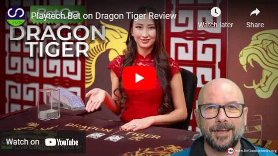 playtech bet on dragon tiger video review