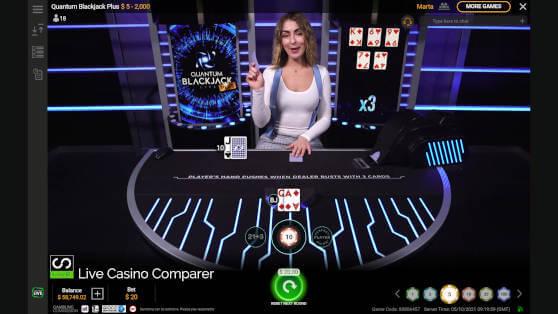 quantum blackjack plus live dealer